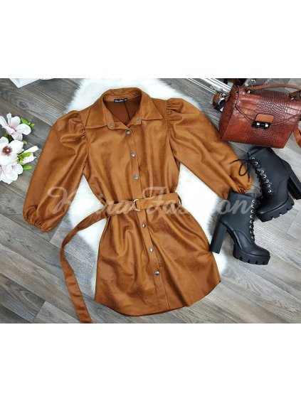 Šaty/košeľa Brown Welle