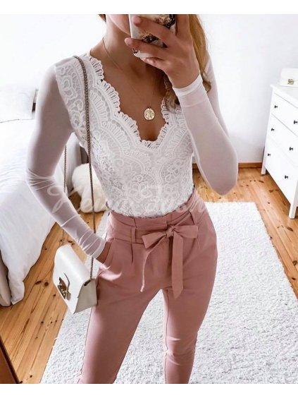 biele elegantné body