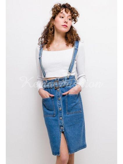riflová sukňa na traky