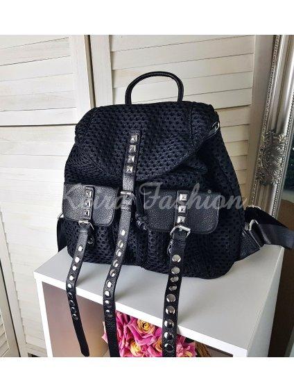 štýlový čierny ruksak