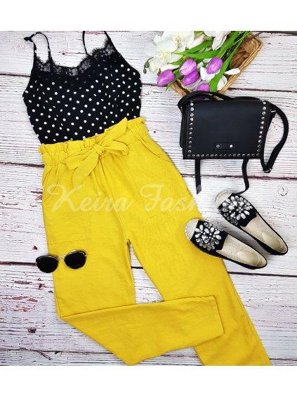 žlté nohavice vzdušné