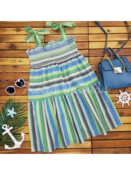pásikavé farebné šaty na leto