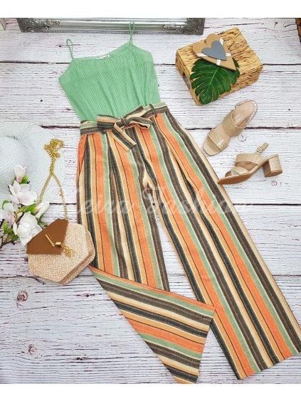 pásikavé letné nohavice