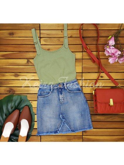 dámska mini riflová sukňa