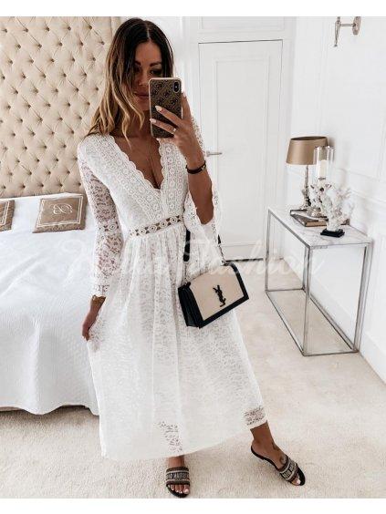dlhé čipkované šaty