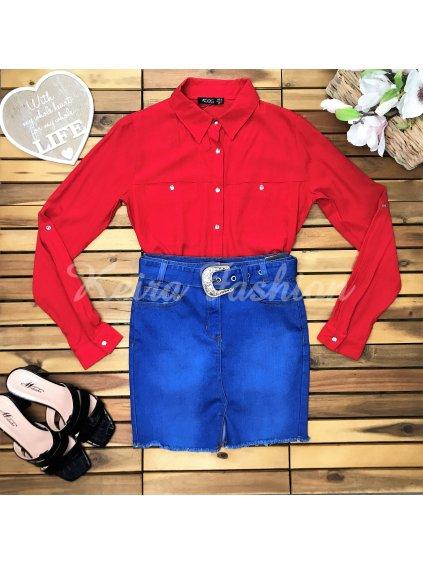 červená košeľa