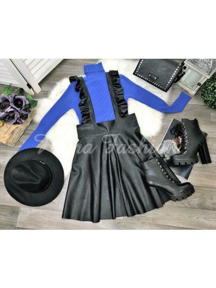 koženková sukňa na traky