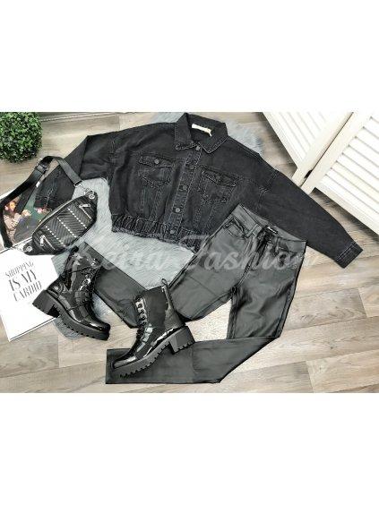 čierny riflový kabát
