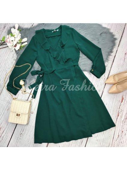 zelené šaty na viazanie