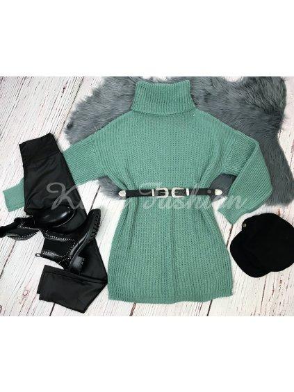 pletené zelené šaty
