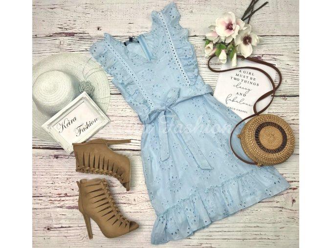 Šaty Blue Broderie