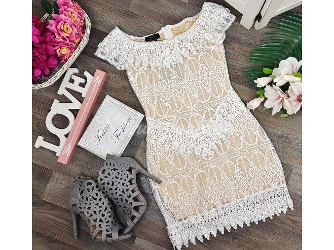Šaty White Lace Lia