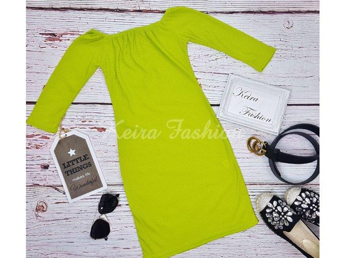 Vrúbkované šaty Lime
