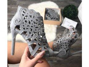 Sivé sandále