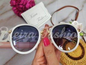 Slnečné okuliare Carmen - biele
