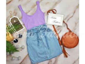 Riflová sukňa Deira