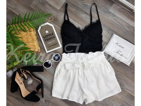 Biele bavlnené šortky
