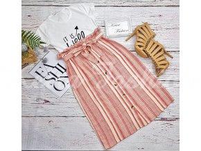 Sukňa Peach Buttons