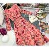 kvetované ružové dlhé šaty