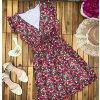 kvetované Šaty s výstrihom