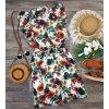 kvetované šaty s divým makom
