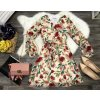 dámske krémové béžové kvetované šaty