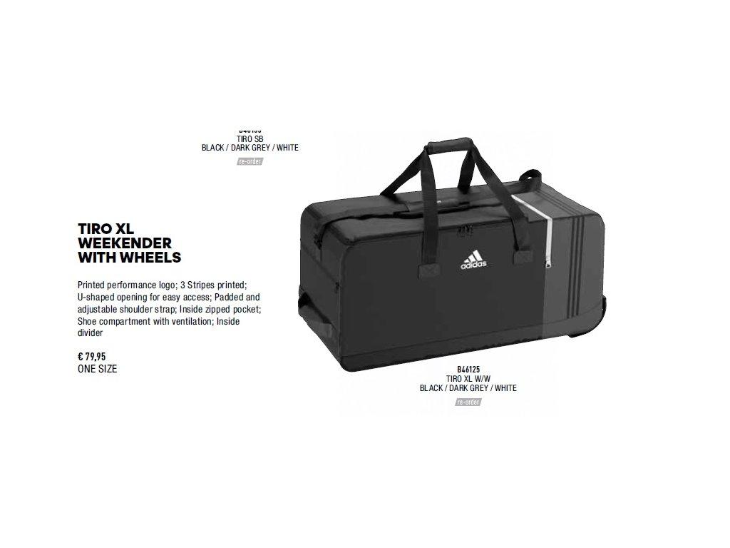 5d64bebb86 Taška Adidas Tiro XL Weekender - www.kelme.sk