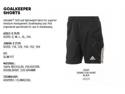 Goalkeeper shorts