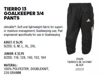 Tierro 13 goalkeeeper 3 4 pants