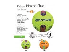 Futbalová lopta Naxos Fluo