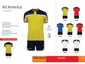 Futbalový dres Givova America