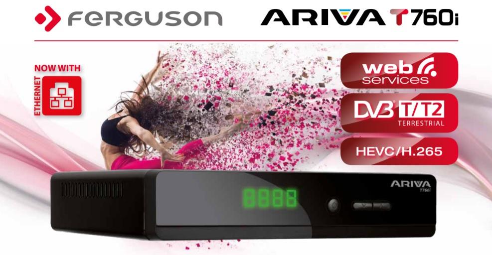 Ferguson Ariva T760i přijímač - H.265/HEVC