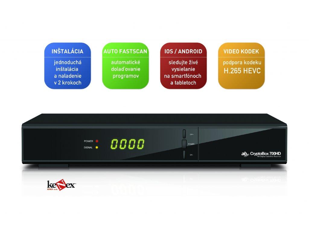 46f60159a AB CryptoBox 700HD digitální satelitní přijímač + Dárek + baterie ...