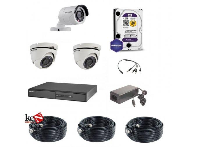 Kamerový set  Hikvision Standart 1 venkovní – 2 vnitřní