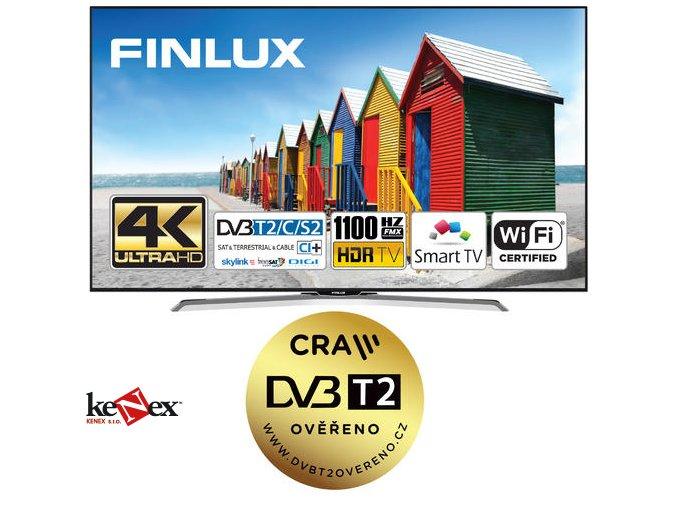 finlux tv49fuc8060 hdr uhd t2 sat wifi