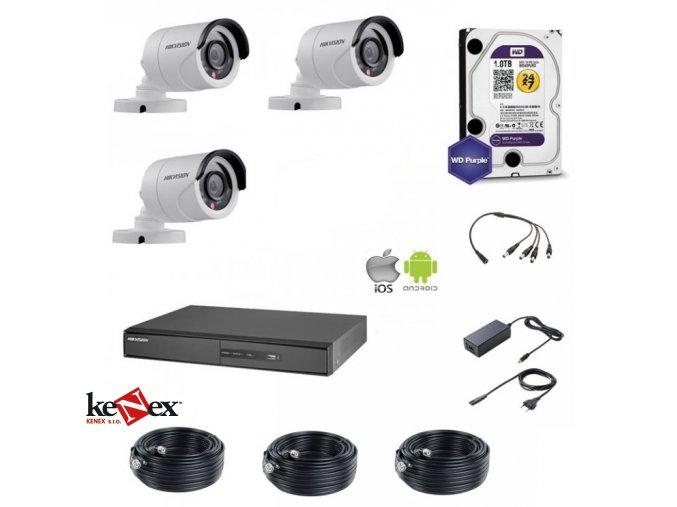 kamerovy set hikvision standart 3 venkovni