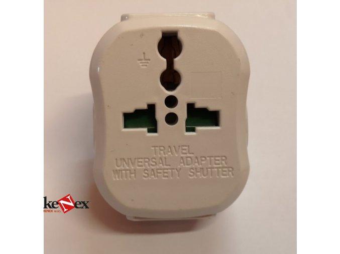 redukce adapter do zasuvky us eu 250v 10a bila velka 8