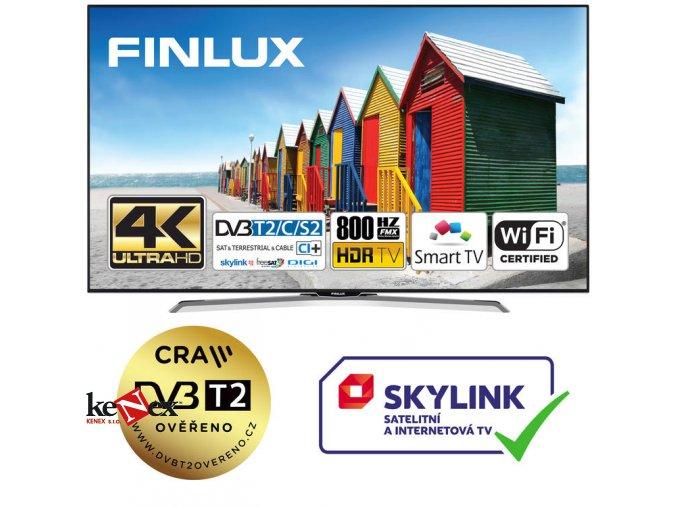 finlux 43fue8160 hdr uhd t2 sat hbbtv wifi skylink live
