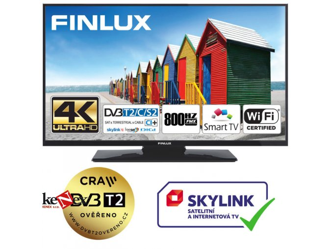 finlux 43fud7061 uhd sat t2 smart wifi skylink live