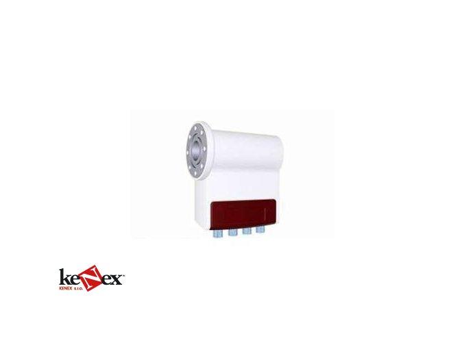red classic quad flange lnb 40