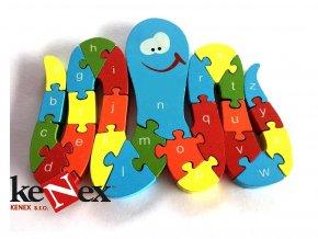 lg drevene vkladaci puzzle z masivu chobotnice s cisly a pismeny