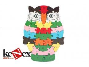 hj toys drevene vkladaci puzzle z masivu sova s cisly a pismeny_1