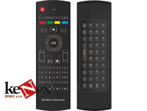 golden interstar airmouse dalkove ovladani s plnou qwerty klavesnici