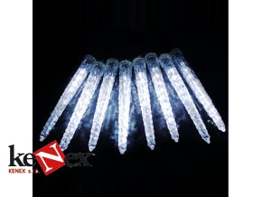 vanocni dekorativni osvetleni vodopadovy efekt studene bila