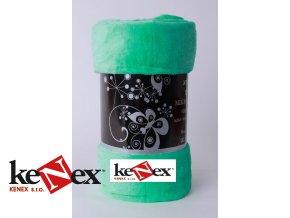 xpose deka mikroflanel 3g zelena 200x220