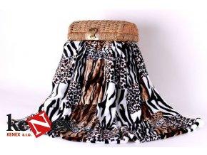 xpose deka z mikrovlakna tigr 200x220 cm