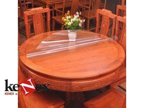 ubrus na stul z mekkeho skla kulaty pr 80 cm
