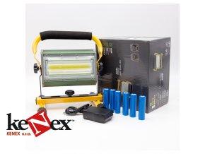 led reflektor prenosny nabijeci 100w cob model w811