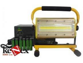 led reflektor prenosny nabijeci 100w cob model w812