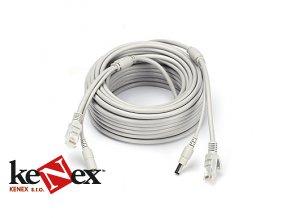vnitrni propojovaci kabel ethernet s rj45 napajeni cat5 cat 5e 10 metru